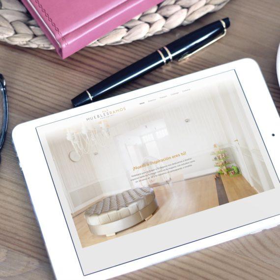 Vista Tablet web muebles ramos
