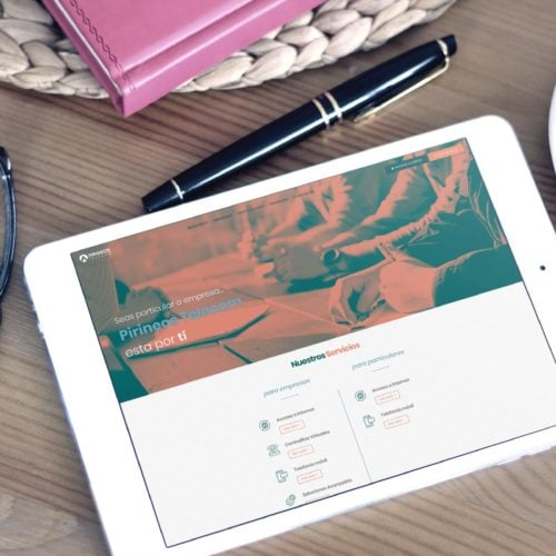 Web Pirineos Telecom Tablet
