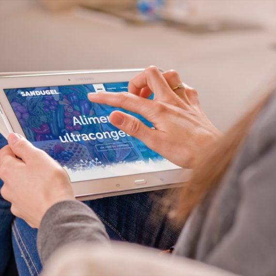 Web Sandugel vista tablet